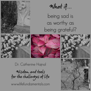 what if being sad is as worthy as being grateful