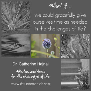 what if we could gracefully give ourselves time as needed